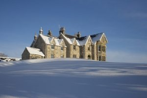 Alladale Lodge in winter